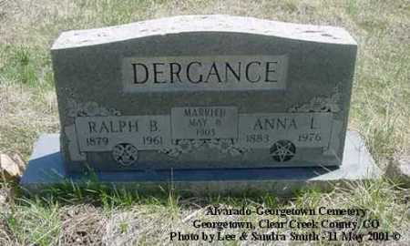 DERGANCE, RALPH B. - Clear Creek County, Colorado | RALPH B. DERGANCE - Colorado Gravestone Photos