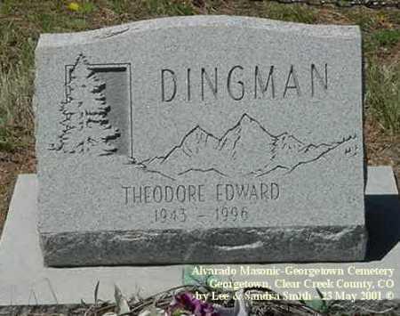 DINGMAN, THEODORE EDWARD - Clear Creek County, Colorado   THEODORE EDWARD DINGMAN - Colorado Gravestone Photos