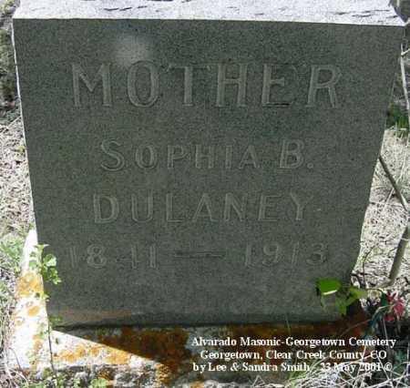 DULANEY, SOPHIA B. - Clear Creek County, Colorado | SOPHIA B. DULANEY - Colorado Gravestone Photos