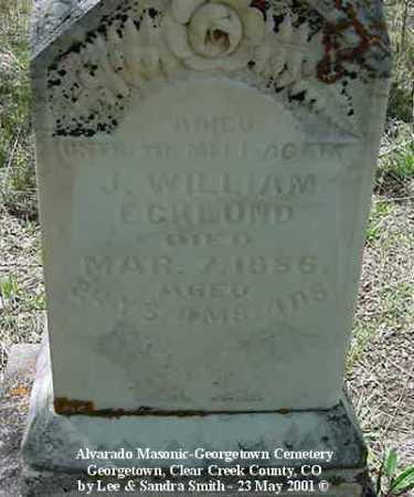 ECKLUND, J. WILLIAM - Clear Creek County, Colorado | J. WILLIAM ECKLUND - Colorado Gravestone Photos