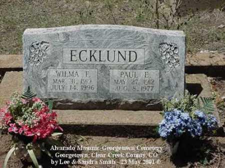 ECKLUND, PAUL E. - Clear Creek County, Colorado | PAUL E. ECKLUND - Colorado Gravestone Photos
