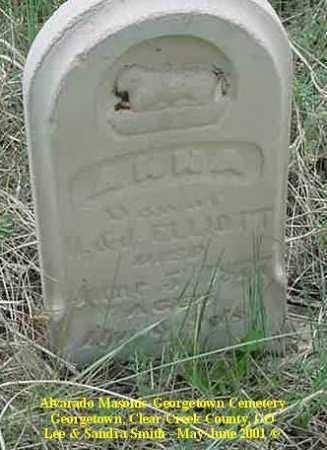 ELLIOTT, ANNA - Clear Creek County, Colorado | ANNA ELLIOTT - Colorado Gravestone Photos