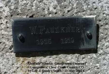 FAULKNER, W. - Clear Creek County, Colorado   W. FAULKNER - Colorado Gravestone Photos