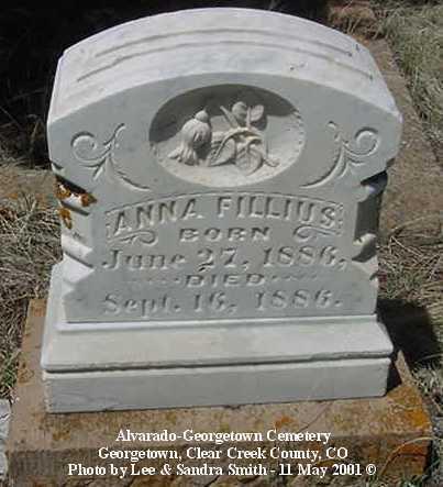 FILLIUS, ANNA - Clear Creek County, Colorado | ANNA FILLIUS - Colorado Gravestone Photos