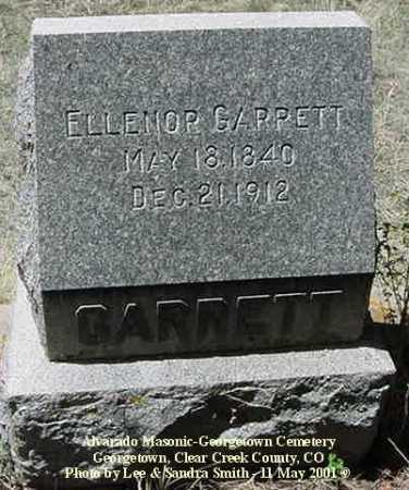 GARRETT, ELLENOR - Clear Creek County, Colorado | ELLENOR GARRETT - Colorado Gravestone Photos