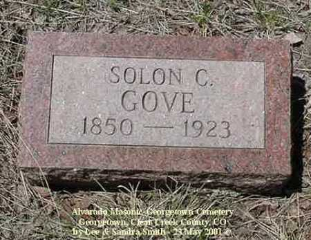GOVE, SOLON C. - Clear Creek County, Colorado | SOLON C. GOVE - Colorado Gravestone Photos