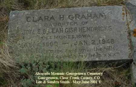 GRAHAM, CLARA H. - Clear Creek County, Colorado | CLARA H. GRAHAM - Colorado Gravestone Photos