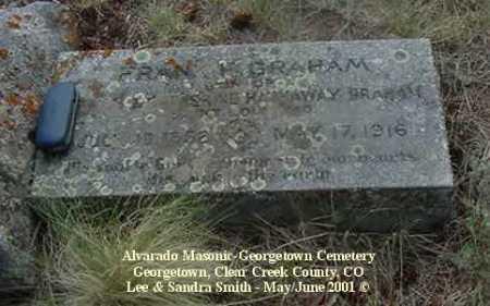 GRAHAM, FRANK H. - Clear Creek County, Colorado   FRANK H. GRAHAM - Colorado Gravestone Photos