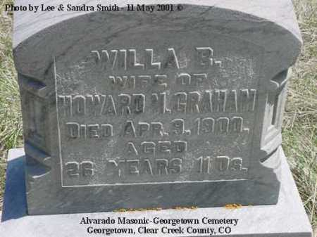 GRAHAM, WILLA B. - Clear Creek County, Colorado | WILLA B. GRAHAM - Colorado Gravestone Photos