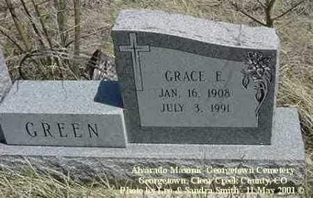 GREEN, GRACE E. - Clear Creek County, Colorado   GRACE E. GREEN - Colorado Gravestone Photos