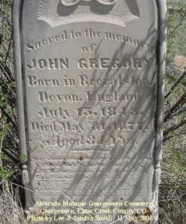 GREGORY, JOHN - Clear Creek County, Colorado | JOHN GREGORY - Colorado Gravestone Photos
