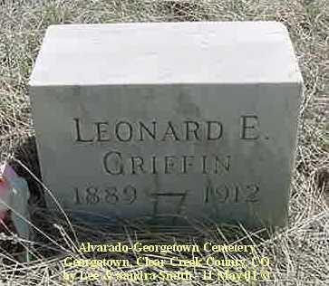GRIFFIN, LEONARD E. - Clear Creek County, Colorado   LEONARD E. GRIFFIN - Colorado Gravestone Photos