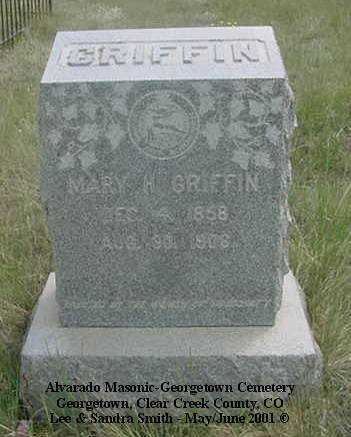 GRIFFIN, MARY H. - Clear Creek County, Colorado | MARY H. GRIFFIN - Colorado Gravestone Photos