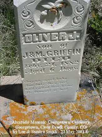 GRIFFIN, OLIVER J. - Clear Creek County, Colorado | OLIVER J. GRIFFIN - Colorado Gravestone Photos