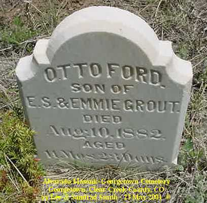 GROUT, OTTO FORD - Clear Creek County, Colorado | OTTO FORD GROUT - Colorado Gravestone Photos