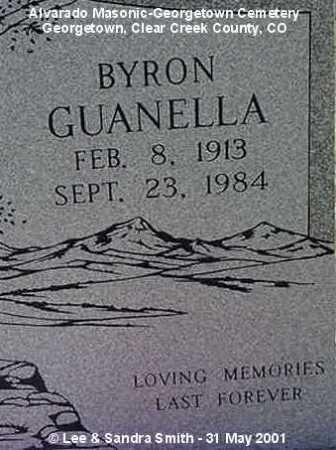 GUANELLA, BYRON - Clear Creek County, Colorado   BYRON GUANELLA - Colorado Gravestone Photos