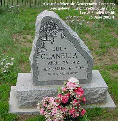 GUANELLA, EULA - Clear Creek County, Colorado | EULA GUANELLA - Colorado Gravestone Photos