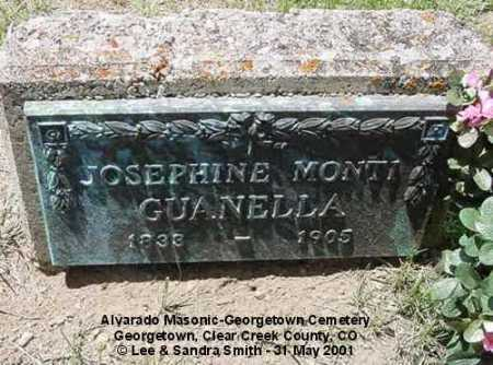 MONTI GUANELLA, JOSEPHINE - Clear Creek County, Colorado | JOSEPHINE MONTI GUANELLA - Colorado Gravestone Photos