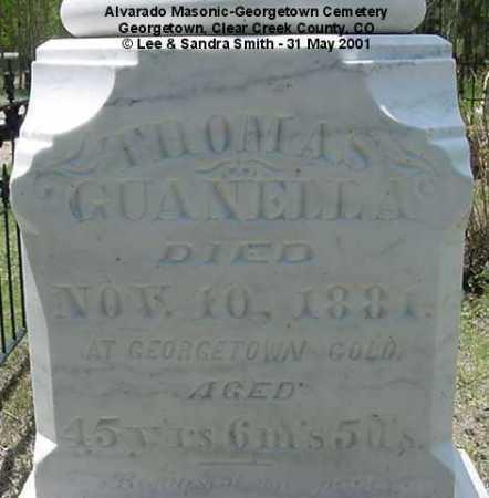 GUANELLA, THOMAS - Clear Creek County, Colorado | THOMAS GUANELLA - Colorado Gravestone Photos