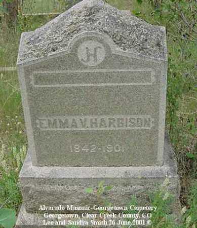 HARBISON, EMMA V. - Clear Creek County, Colorado | EMMA V. HARBISON - Colorado Gravestone Photos