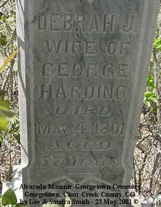 HARDING, DEBRAH J. - Clear Creek County, Colorado | DEBRAH J. HARDING - Colorado Gravestone Photos