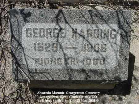 HARDING, GEORGE - Clear Creek County, Colorado   GEORGE HARDING - Colorado Gravestone Photos