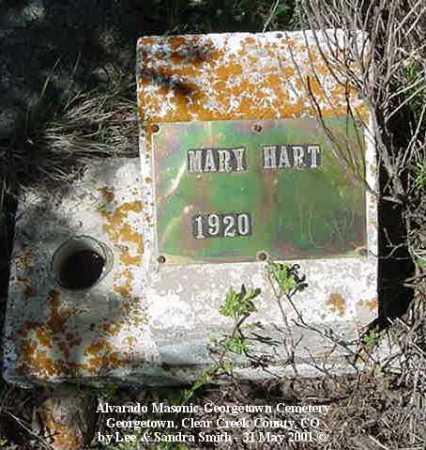 HART, MARY - Clear Creek County, Colorado | MARY HART - Colorado Gravestone Photos