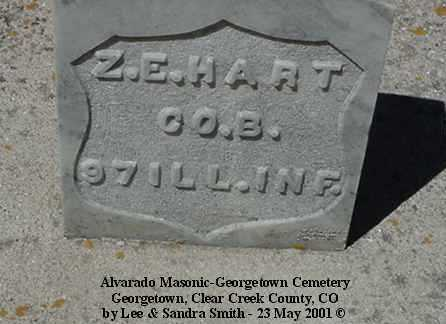 HART, Z.E. - Clear Creek County, Colorado | Z.E. HART - Colorado Gravestone Photos