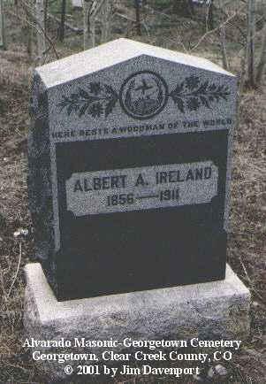 IRELAND, ALBERT A. - Clear Creek County, Colorado | ALBERT A. IRELAND - Colorado Gravestone Photos
