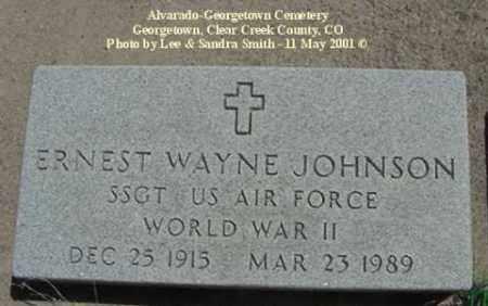 JOHNSON, ERNEST WAYNE - Clear Creek County, Colorado | ERNEST WAYNE JOHNSON - Colorado Gravestone Photos