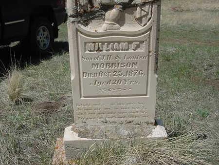 MORRISON, WILLIAM - Clear Creek County, Colorado | WILLIAM MORRISON - Colorado Gravestone Photos