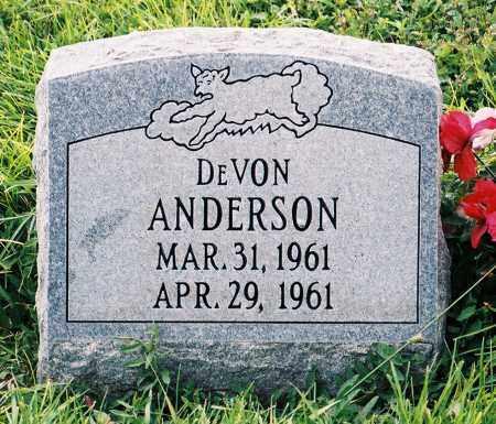 ANDERSON, DEVON - Conejos County, Colorado   DEVON ANDERSON - Colorado Gravestone Photos