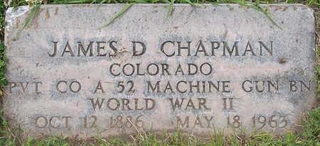 CHAPMAN, JAMES D. - Conejos County, Colorado | JAMES D. CHAPMAN - Colorado Gravestone Photos