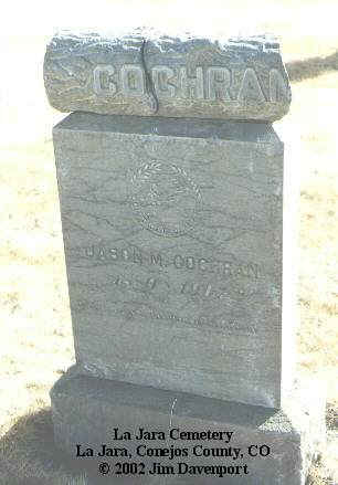 COCHRAN, JASON M. - Conejos County, Colorado | JASON M. COCHRAN - Colorado Gravestone Photos