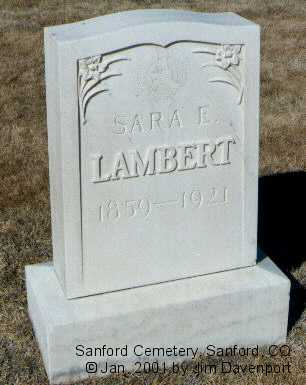 LAMBERT, SARA E. - Conejos County, Colorado | SARA E. LAMBERT - Colorado Gravestone Photos