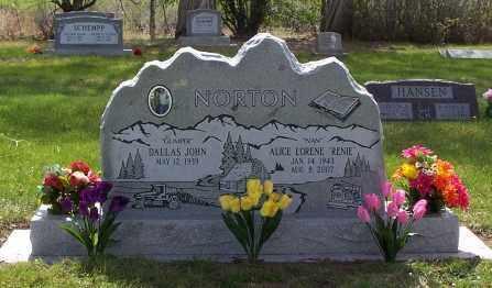 NORTON, ALICE LORENE - Conejos County, Colorado   ALICE LORENE NORTON - Colorado Gravestone Photos