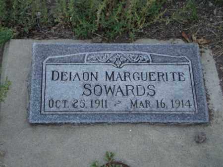 SOWARDS, DEIAON MARGUERITE - Conejos County, Colorado   DEIAON MARGUERITE SOWARDS - Colorado Gravestone Photos