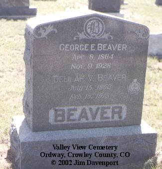 BEAVER, GEORGE E. - Crowley County, Colorado | GEORGE E. BEAVER - Colorado Gravestone Photos