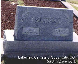 CALDWELL, IVA G. - Crowley County, Colorado | IVA G. CALDWELL - Colorado Gravestone Photos