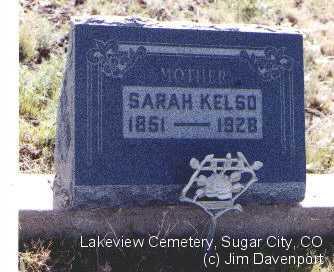 KELSO, SARAH - Crowley County, Colorado | SARAH KELSO - Colorado Gravestone Photos