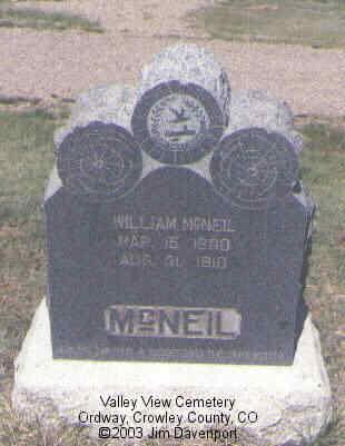 MCNEIL, FLORELLA M. - Crowley County, Colorado | FLORELLA M. MCNEIL - Colorado Gravestone Photos
