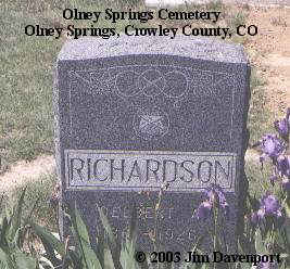 RICHARDSON, DELBERT - Crowley County, Colorado | DELBERT RICHARDSON - Colorado Gravestone Photos