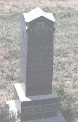 DICKSON, ALEXANDER FRANKLIN - Custer County, Colorado | ALEXANDER FRANKLIN DICKSON - Colorado Gravestone Photos