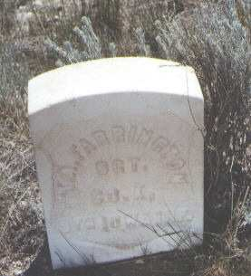 FARRINGTON, T. A. - Custer County, Colorado | T. A. FARRINGTON - Colorado Gravestone Photos