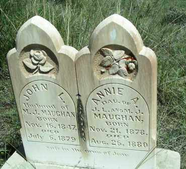 MAUGHAN, ANNIE - Custer County, Colorado | ANNIE MAUGHAN - Colorado Gravestone Photos
