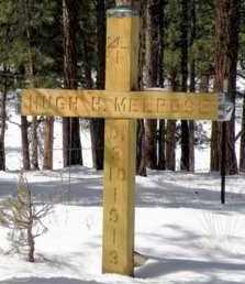 MELROSE [CIVIL WAR VETERAN], HUGH H - Custer County, Colorado   HUGH H MELROSE [CIVIL WAR VETERAN] - Colorado Gravestone Photos
