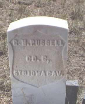 RUSSELL, G. H. - Custer County, Colorado | G. H. RUSSELL - Colorado Gravestone Photos
