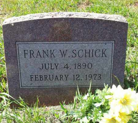 SCHICK, FRANK W. - Custer County, Colorado | FRANK W. SCHICK - Colorado Gravestone Photos