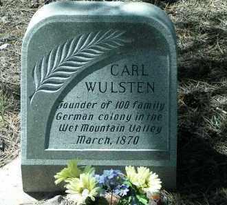 WULSTEN, CARL - Custer County, Colorado | CARL WULSTEN - Colorado Gravestone Photos