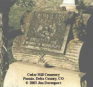 ASH, ALDA A. - Delta County, Colorado | ALDA A. ASH - Colorado Gravestone Photos